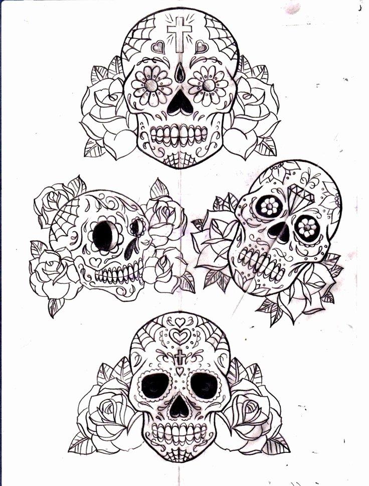 Blank Sugar Skull Template Inspirational 24 Best Sugar Skull Tattoo Outlines Images On Pinterest