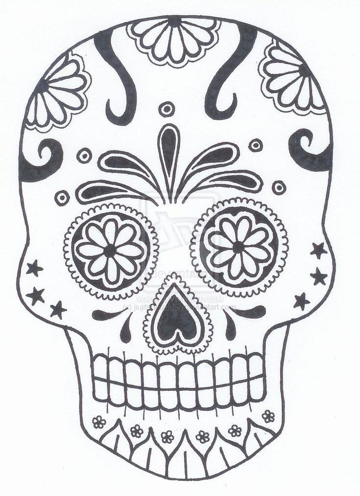 Blank Sugar Skull Template Lovely Best 25 Sugar Skull Pumpkin Ideas On Pinterest