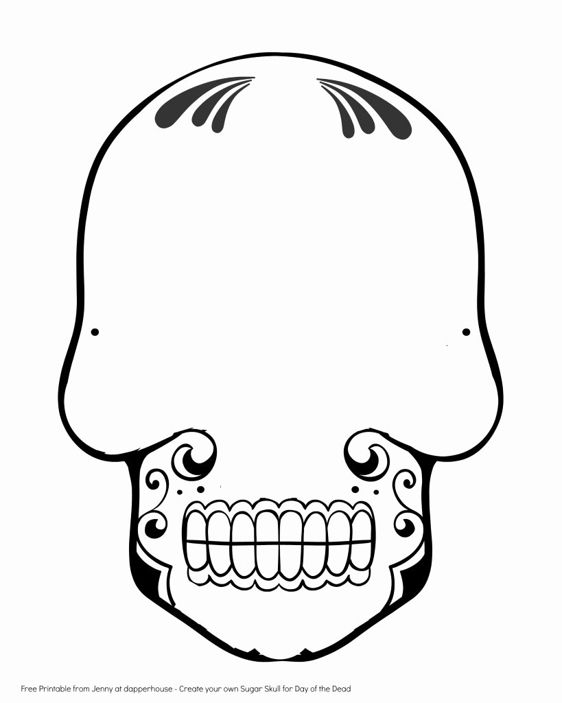 Blank Sugar Skull Template Lovely Free Printable Create A Sugar Skull for Day Of the Dead