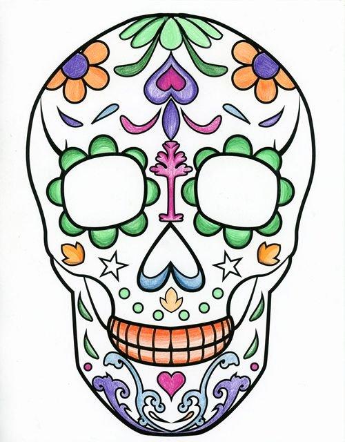 Blank Sugar Skull Template Luxury Best 25 Sugar Skull Drawings Ideas On Pinterest