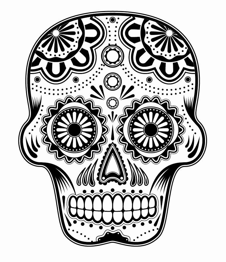 Blank Sugar Skull Template Luxury Free A Skull Download Free Clip Art Free