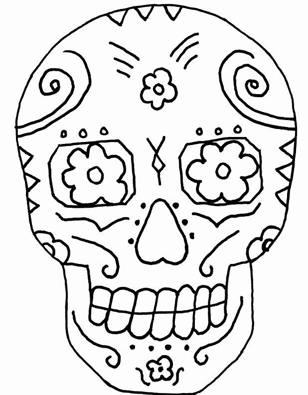 Blank Sugar Skull Template New Sugar Skull Coloring Page Az Coloring Pages