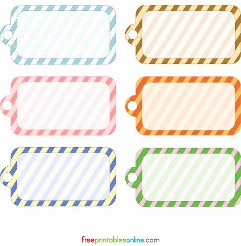 Blank Tags Printable Awesome Blank Printable Simple Stripes Gift Tag Template