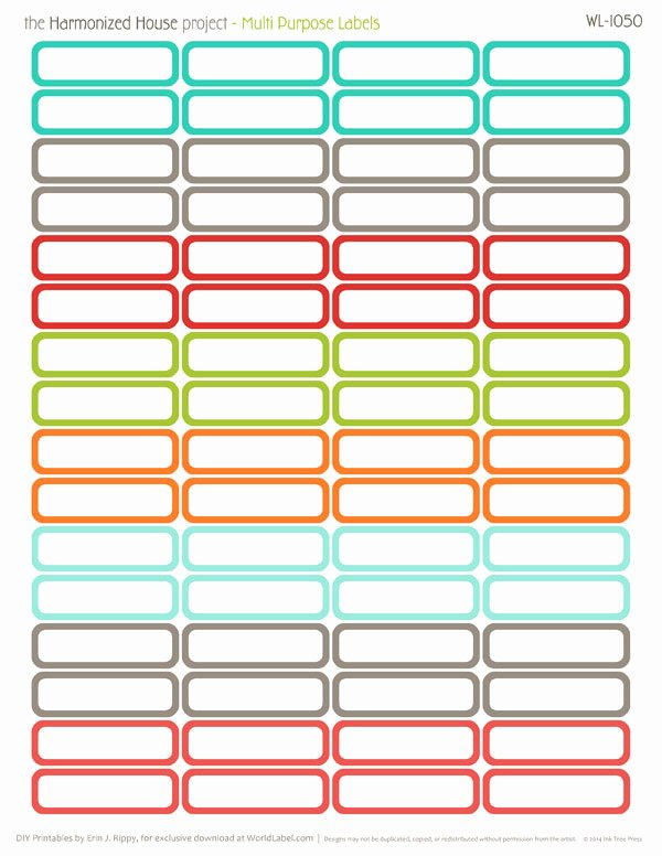 Blank Tags Printable Awesome Home Finance Printables the Harmonized House Project