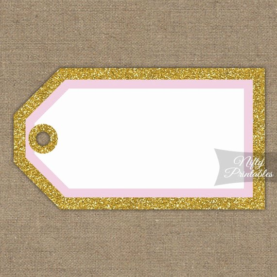 Blank Tags Printable Best Of Printable Blank Favor Tags Pink & Gold Glitter Diy Blank
