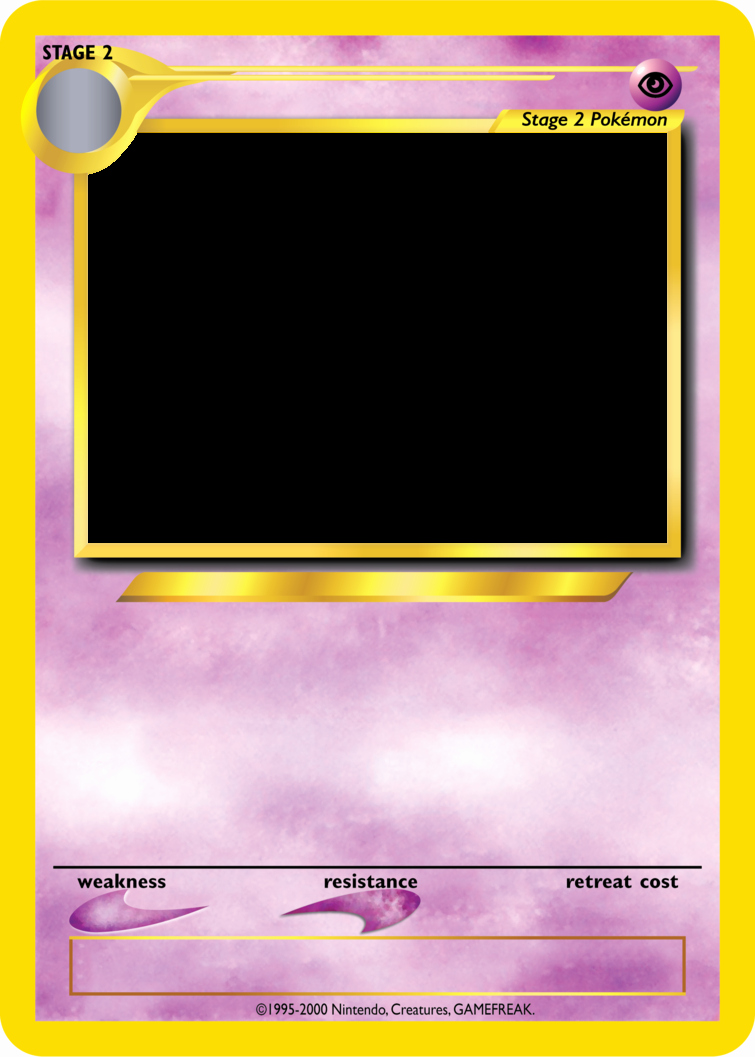 Blank Trading Card Template Beautiful Pokemon Tcg Blanks Neo Jumbo Stage 2 by Icycatelf On