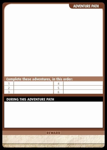 Blank Trading Card Template Elegant Paizo Munity Use Package Pathfinder Adventure