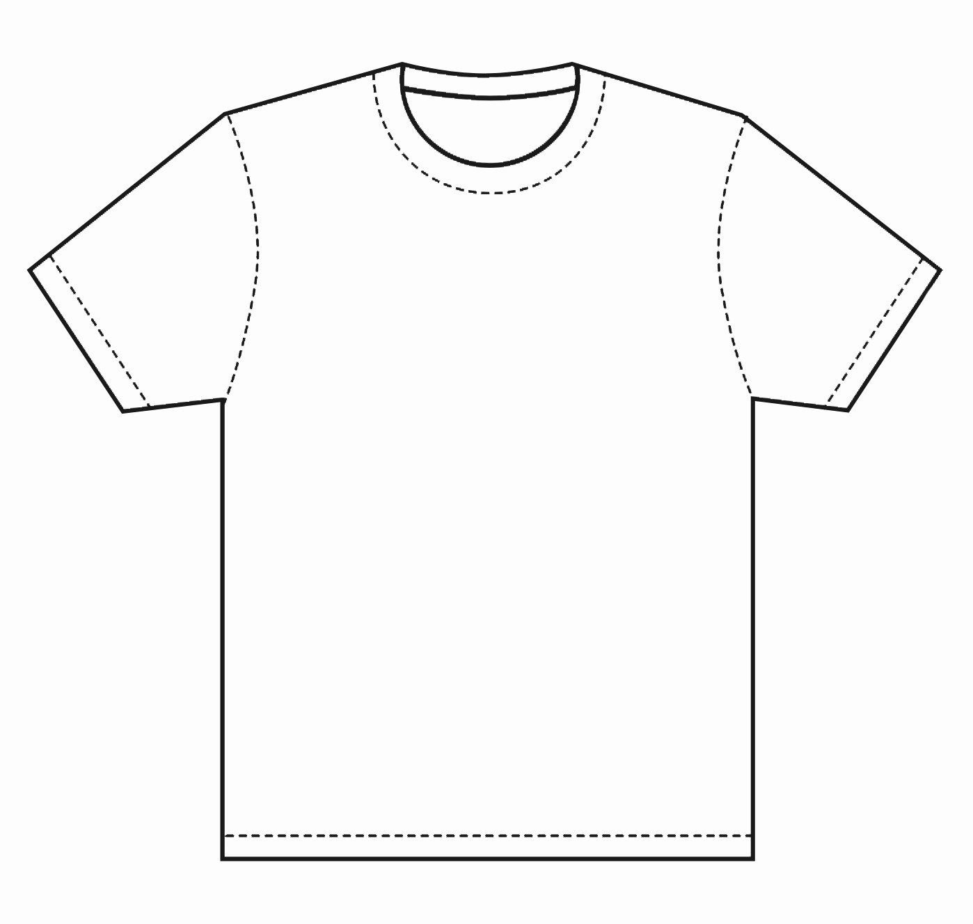 Blank Tshirt Template Awesome Blank T Shirt Coloring Page thekindproject