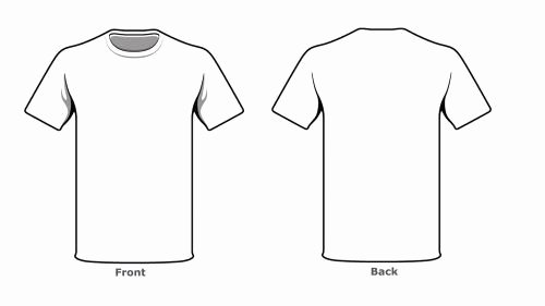 Blank Tshirt Template Lovely Blank Tshirt Template Front Back Side Phones