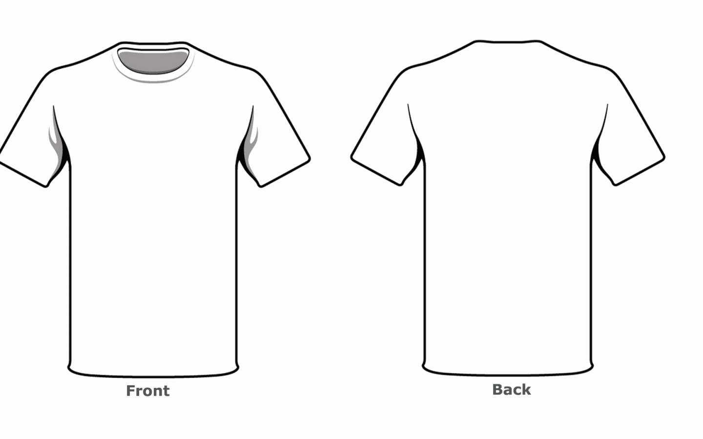 Blank Tshirt Template Luxury Blank Tshirt Template Front Back Side In High Resolution