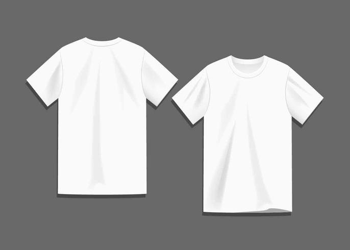 Blank Tshirt Template New White Blank T Shirt Template Vector Download Free Vector