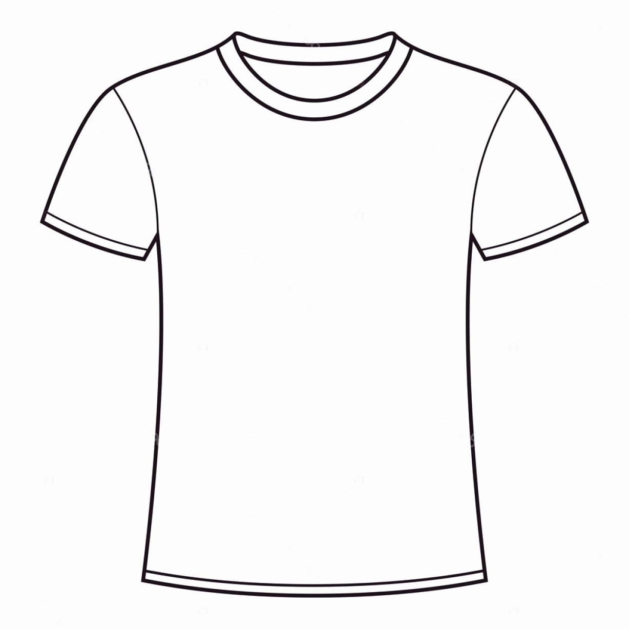 Blank Tshirt Template Unique Stock Illustration Blank T Shirt Template