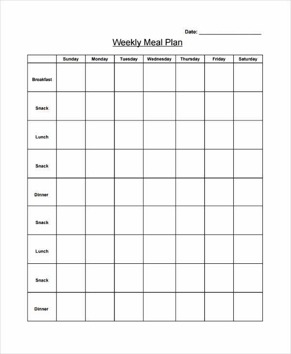 Blank Weekly Menu Elegant 20 Menu Samples
