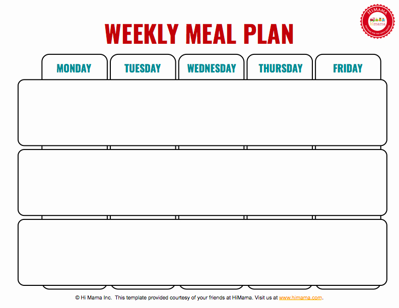 Blank Weekly Menu Template Awesome Himama Daycare Menu Template Child Care Weekly Menu