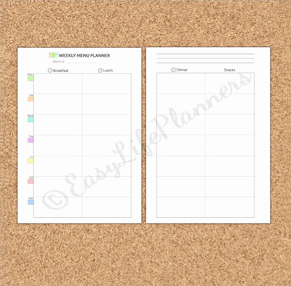 Blank Weekly Menu Template Best Of Sample Blank Menu Template 21 Download In Pdf Psd Eps