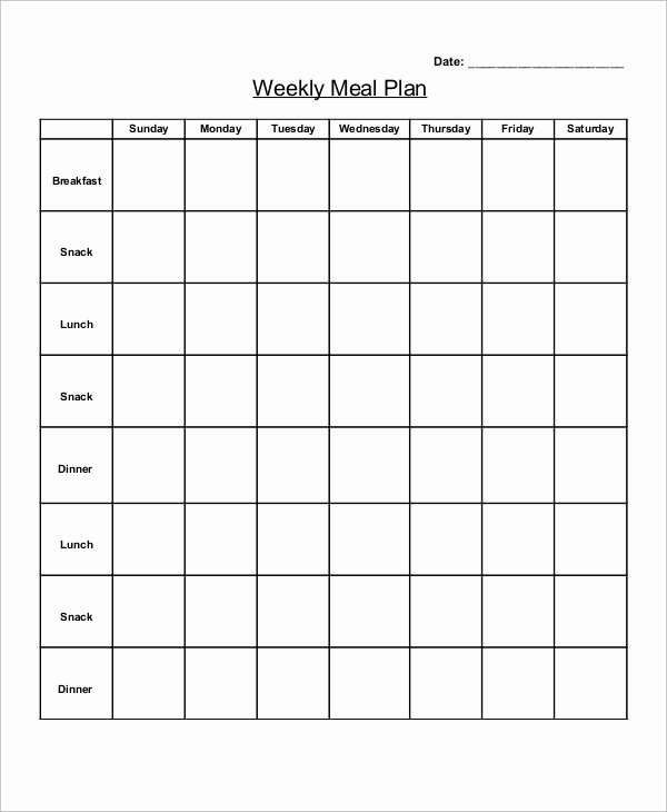 Blank Weekly Menu Template Elegant 12 Menu Planner Samples & Templates