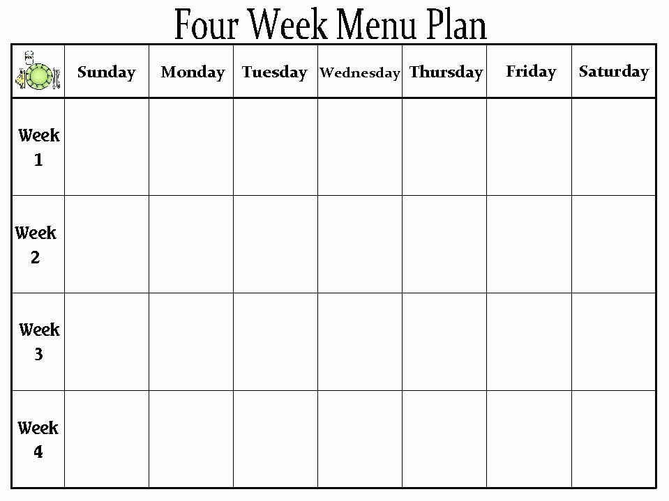 Blank Weekly Menu Template Elegant the Creative Homemaker My organized Home Part 2 Meal Prep