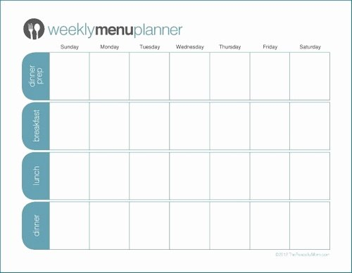 Blank Weekly Menu Template Elegant to Print Tpm E Week Menu Planner the Peaceful Mom