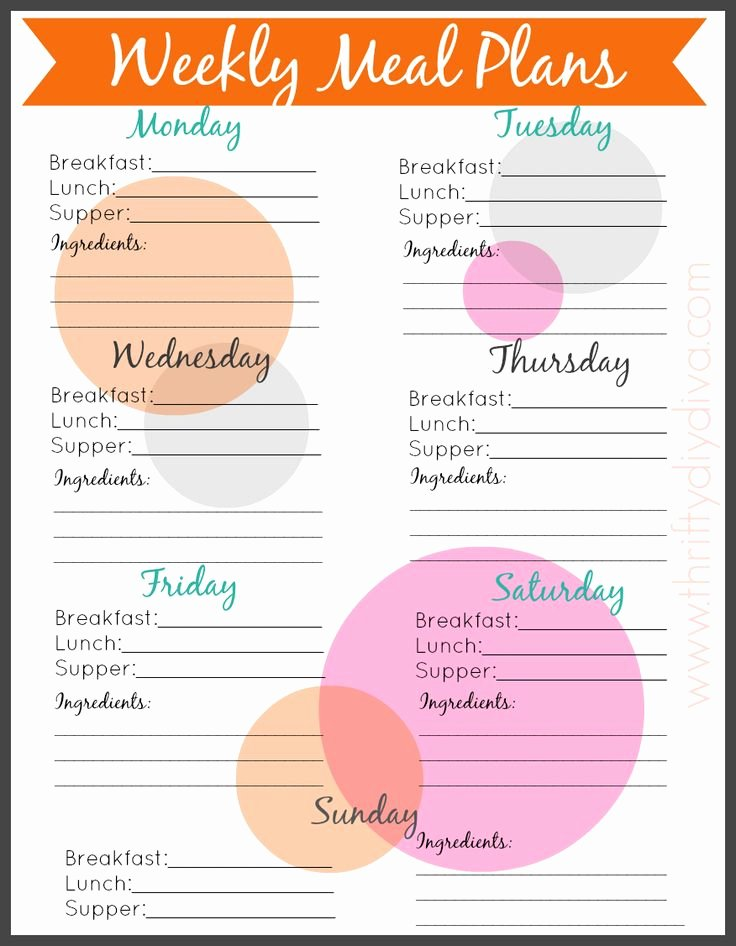 Blank Weekly Menu Template Lovely Best 25 Meal Planning Templates Ideas On Pinterest