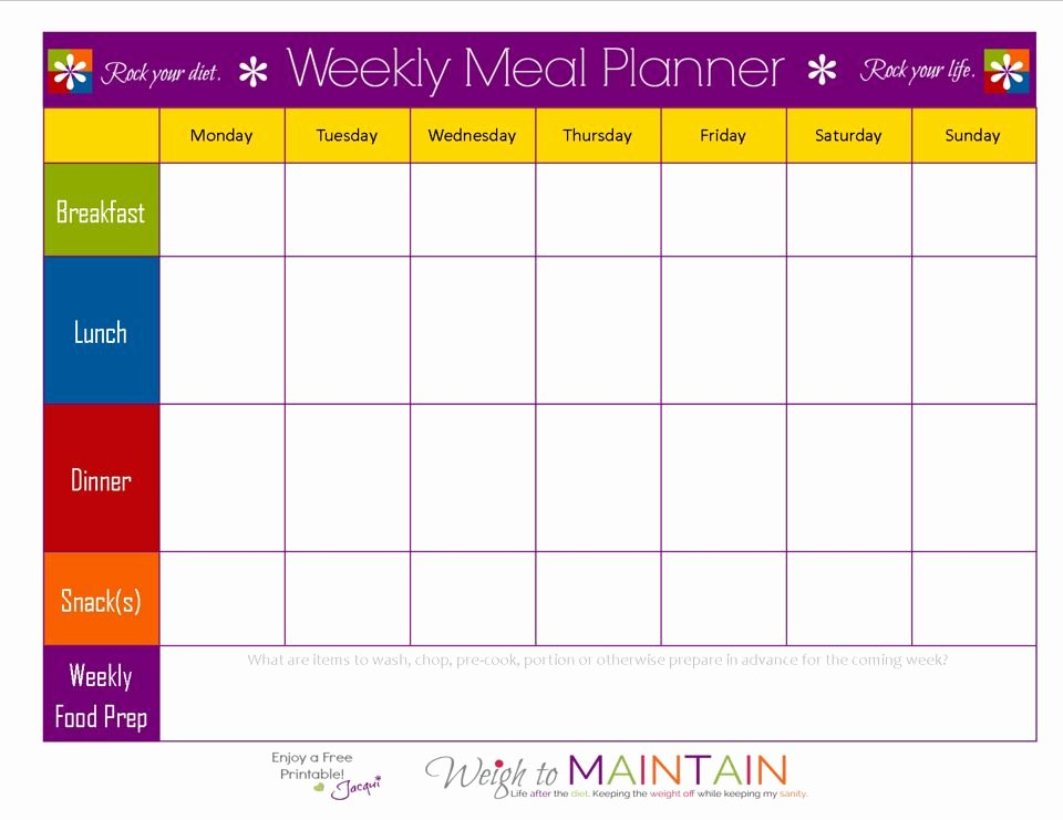 Blank Weekly Menu Template Lovely Blank Weekly Meal Plan Sheet 21 Day Fix In 2019