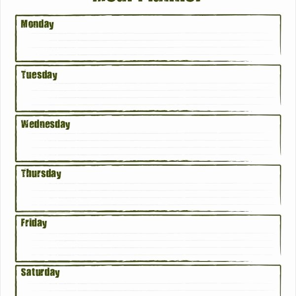 Blank Weekly Menu Template Luxury Weekly Meal Planner – 10 Free Pdf Psd Documents Download