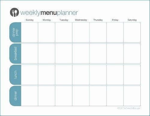 Blank Weekly Menu Unique to Print Tpm E Week Menu Planner the Peaceful Mom
