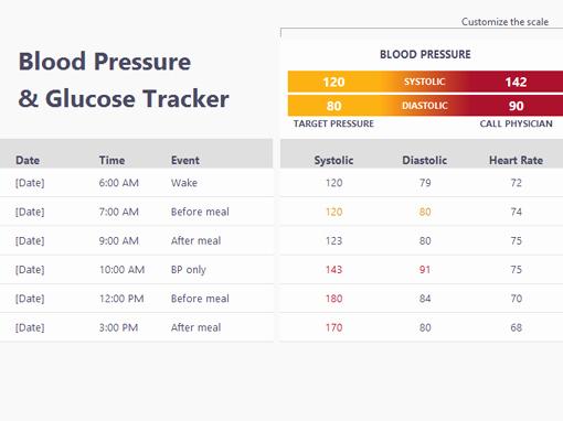 Blood Pressure Log Excel Elegant Medical Design Presentation Widescreen Fice Templates