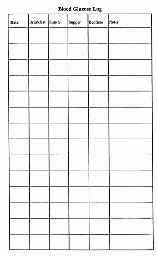 Blood Sugar Log Template Excel Awesome Free Printable Blood Glucose Log