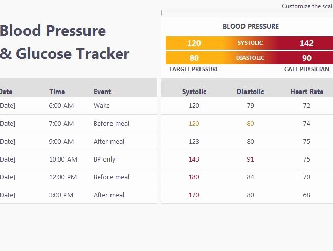 Blood Sugar Log Template Excel Beautiful Blood Pressure and Glucose Tracker My Excel Templates