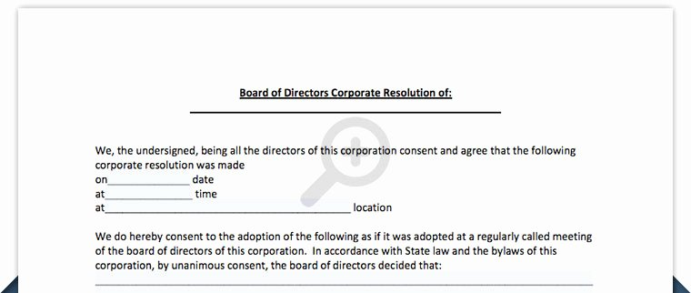 Board Of Directors Resolution Inspirational Board Resolution Free Board Of Directors Resolution