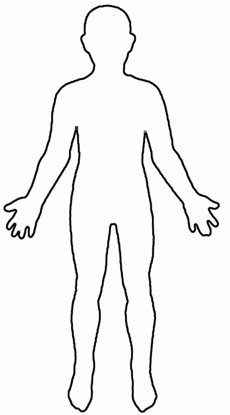 Body Drawing Template Lovely Human Body Outline for Kids
