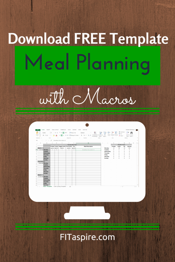Bodybuilding Meal Plan Template Inspirational Meal Planning with Macros Free Template