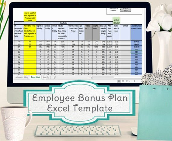Bonus Plan Template Excel Beautiful Employee Bonus Excel Template Incentive Plan Calculation