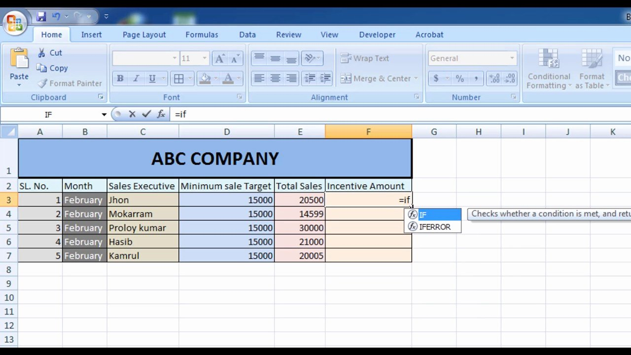 Bonus Plan Template Excel Elegant How to Calculate Incentive for Sales Executive In Excel