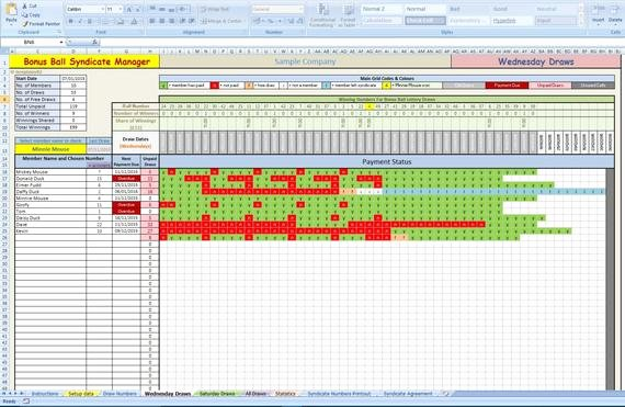 Bonus Plan Template Excel Luxury Bonus Ball Lottery Syndicate Manager Excel Template by