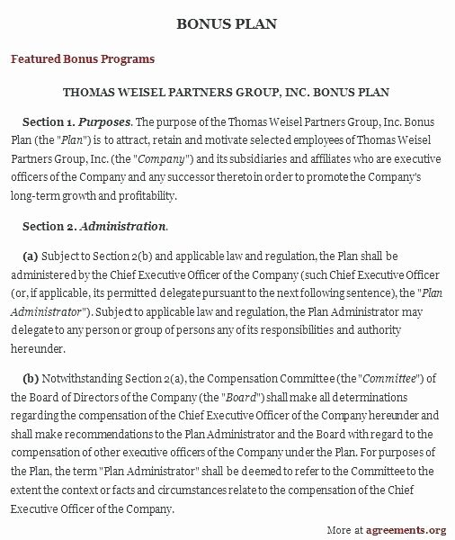 Bonus Plan Template Excel Luxury Employee Bonus Plan Template – Grupofive