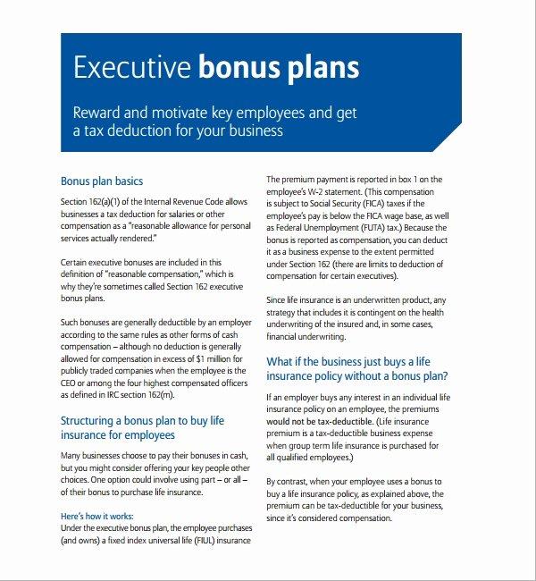 Bonus Plan Template Excel Unique 7 Bonus Plan Templates