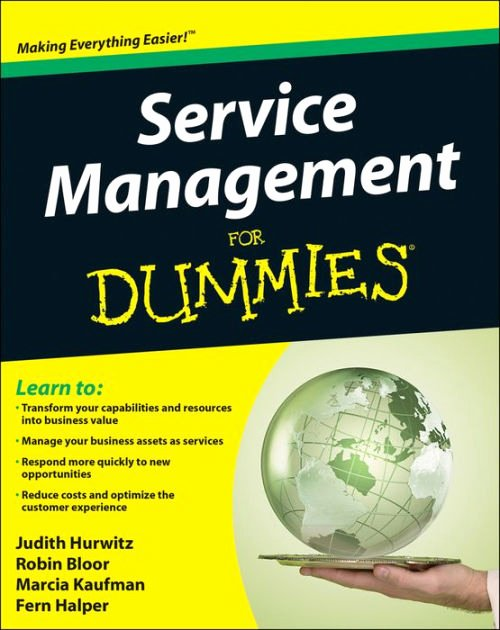 Book for Dummies Template Awesome Service Management for Dummies by Judith S Hurwitz Robin