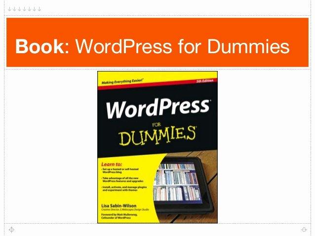 Book for Dummies Template Beautiful Beginning Wordpress Workshop
