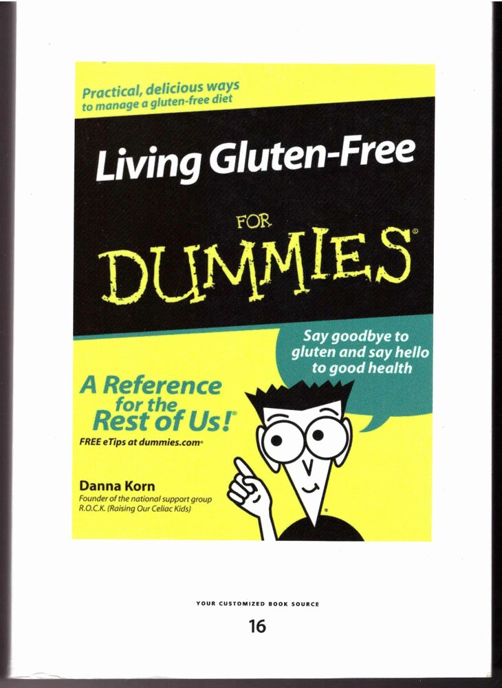 Book for Dummies Template Lovely Donna Korn Living Gluten Free for Dummies Large Print