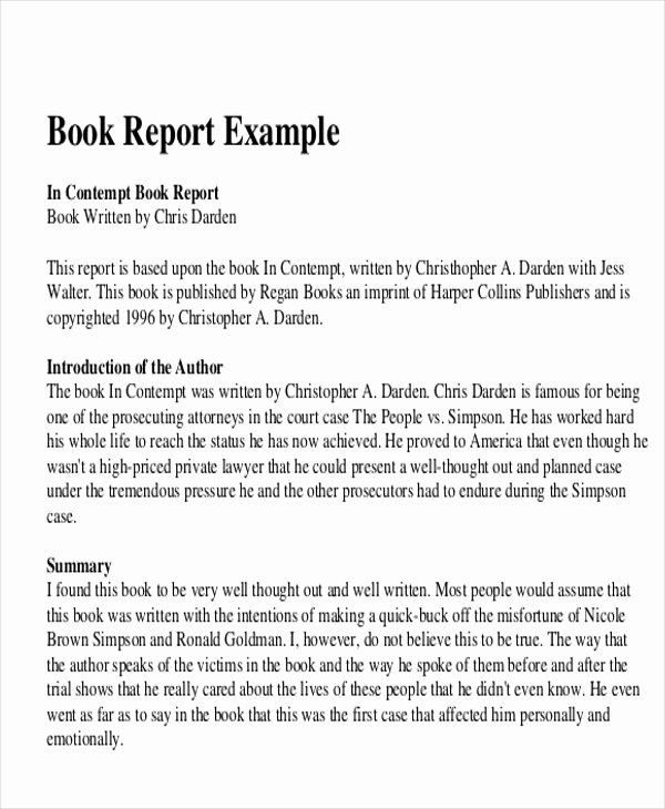 Book Review Template Pdf Beautiful 10 Sample Book Report Free Sample Example format Download