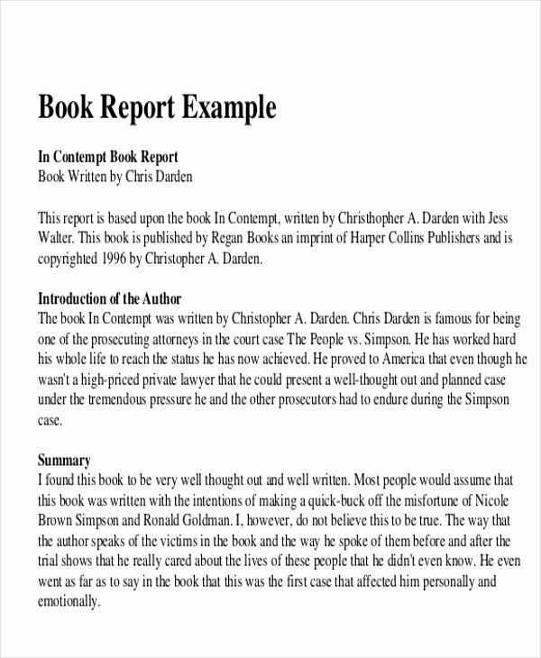 Book Review Template Pdf Beautiful 10 Sample Book Report Free Sample Example format Download
