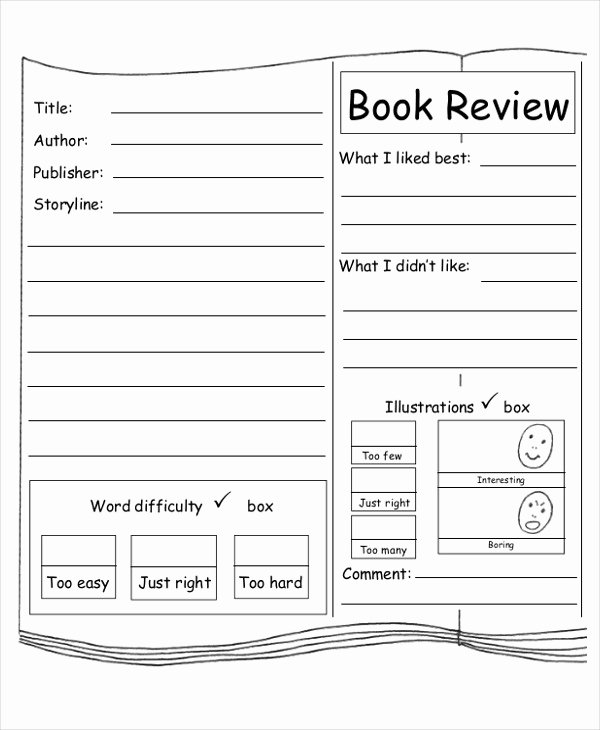 Book Review Template Pdf Fresh 10 Sample Book Report Free Sample Example format Download
