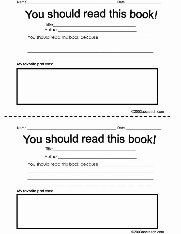 Book Review Template Pdf Unique 32 Best Book Review Template Images On Pinterest