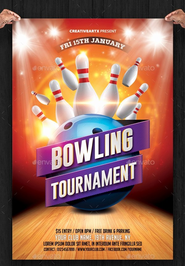 Bowling Flyer Template Free Awesome 23 Bowling Flyer Psd Vector Eps Jpg Download
