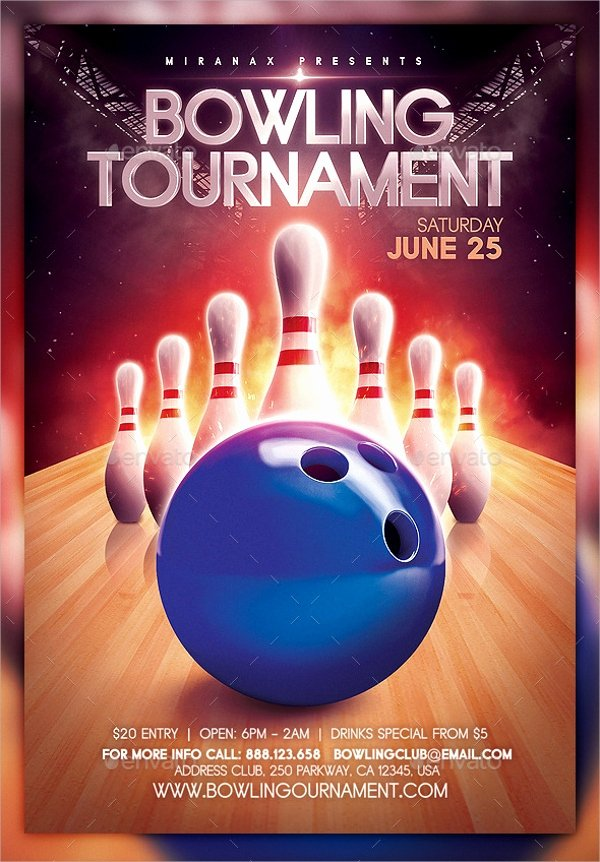 Bowling Flyer Template Free Awesome 24 Bowling Flyer Templates Vector Eps Psd