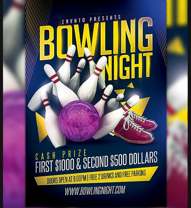 Bowling Flyer Template Free Beautiful 21 Bowling Flyer Designs Psd Download