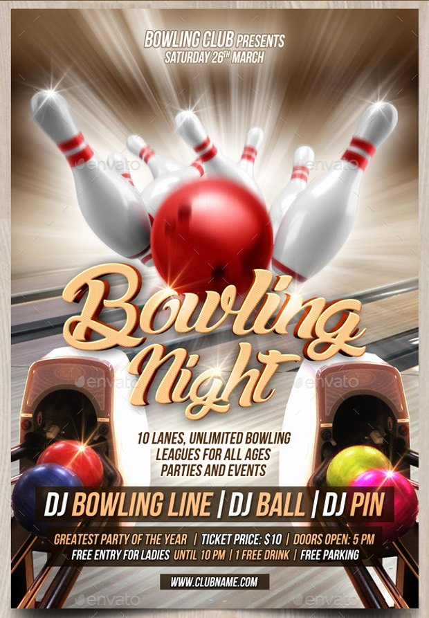 Bowling Flyer Template Free Best Of 21 Bowling Flyer Designs Psd Download