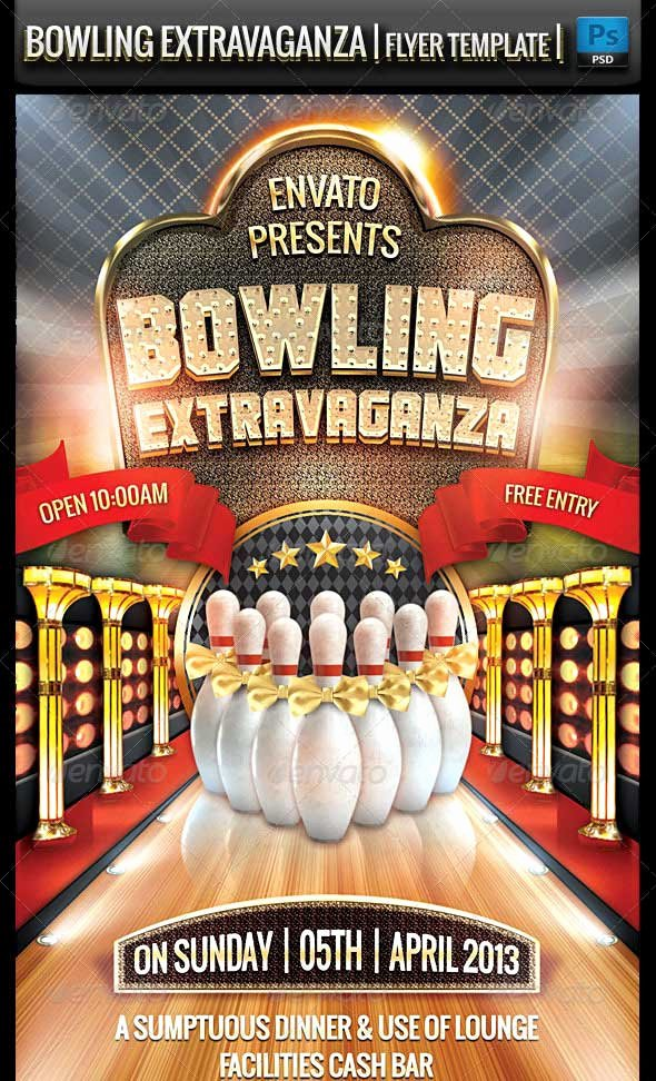 Bowling Flyer Template Free Best Of 25 Beautiful Premium Flyer Psd Templates Designmaz