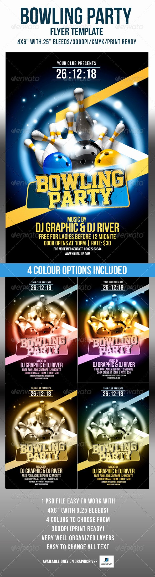 Bowling Flyer Template Free Best Of Bowling Party Flyer Template by Crabsta52